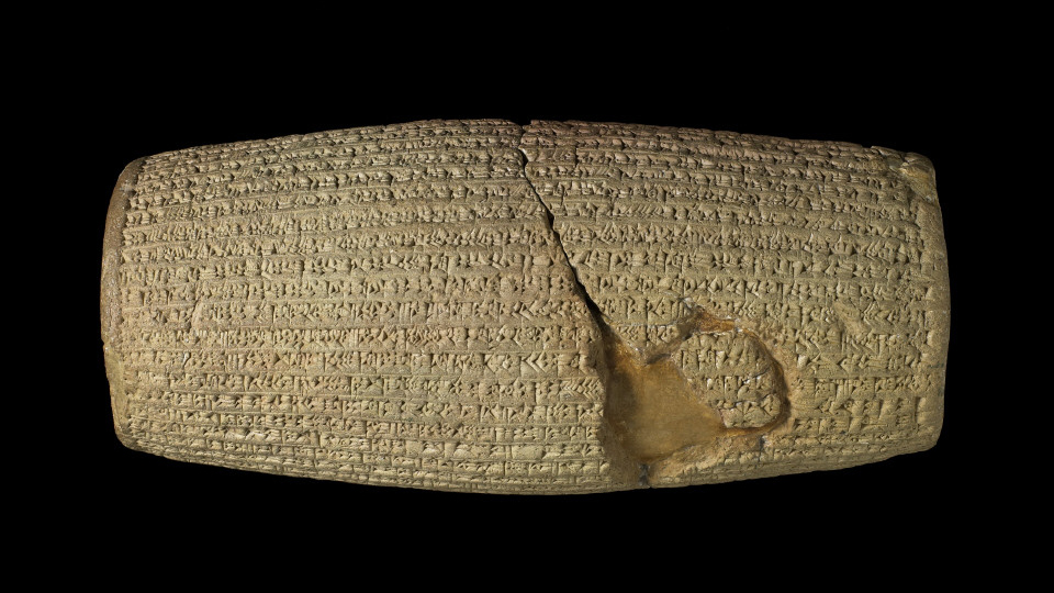 The Cyrus Cylinder, 539-538 BC, Achaemenid, clay