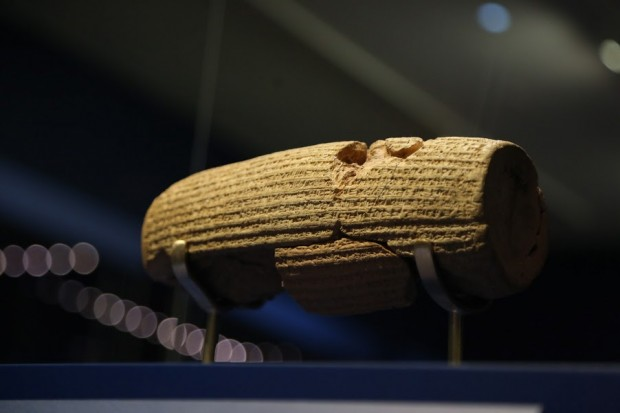 The Cyrus Cylinder - At MFA Houston. Photo: Reza Ganji / IHF America