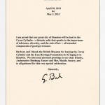 Letter from President George H.W. Bush