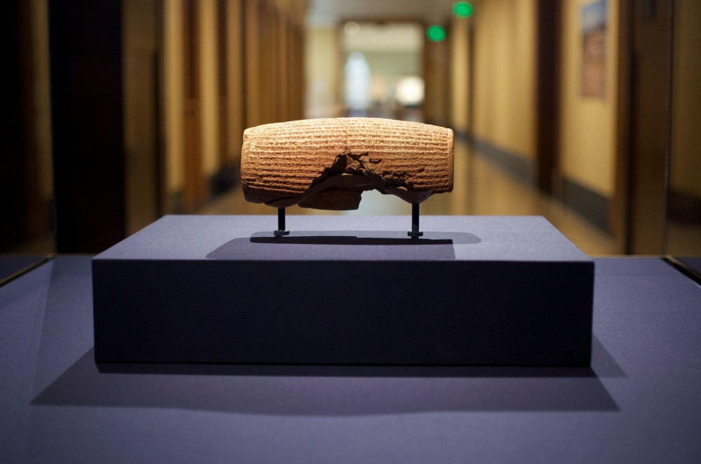 The Cyrus Cylinder at the Getty Villa